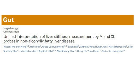 Same liver stiffness measurement cut-offs for M and XL probes