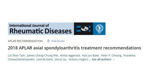 Region-specific guidelines for treatment of axial spondyloarthritis