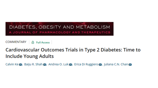 Time to include young adults in Type 2 Diabetes Cardiovascular Outcomes trials