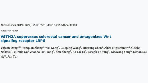 Secreted protein to suppress colorectal cancer