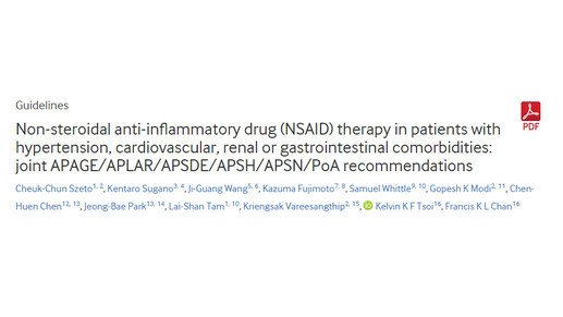 Safe prescription of Non-steroidal anti-inflammatory drugs
