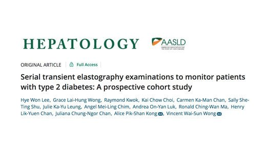 Application of transient elastography in diabetic patients