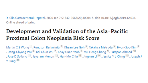 A risk score to identify potential colorectal cancer