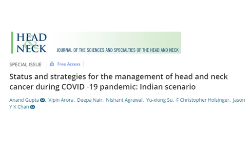 Management of head and neck surgeries during COVID-19: Indian scenario