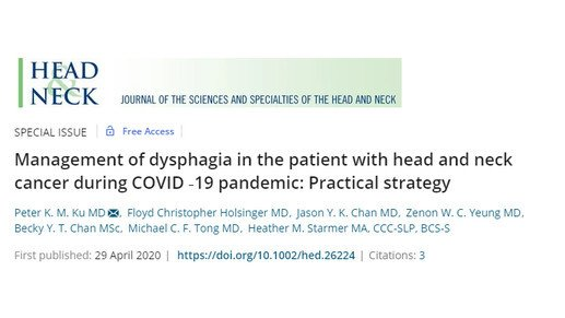 COVID-19: Clinical guidelines for dysphagia cases