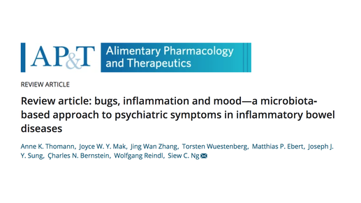 Microbiota-brain-gut interactions in intestinal inflammation and psychiatric illnesses