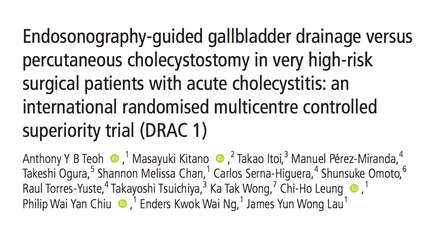 Endoscopic alternatives for patients with acute cholecystitis