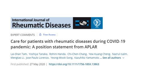 COVID-19 and rheumatic diseases