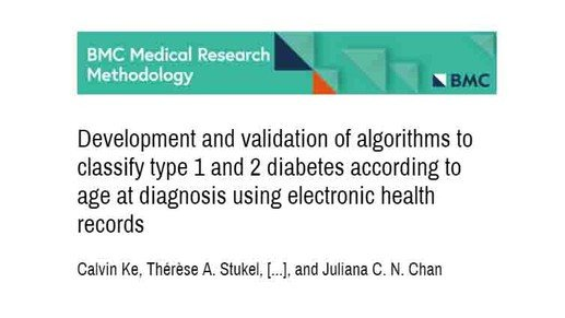 Algorithms classifying diabetes type