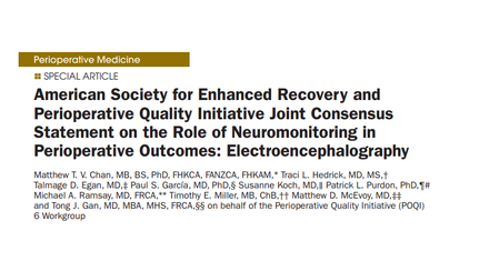 International consensus on EEG monitoring