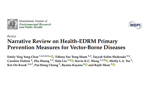 Primary prevention measures for vector-borne diseases