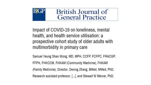 Psychosocial health of the elderly in COVID-19