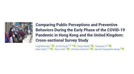 COVID-19: Preventive behaviours between HK and UK