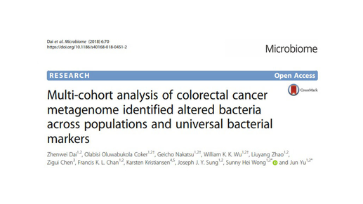 Universal bacterial markers for non-invasive colorectal cancer diagnosis