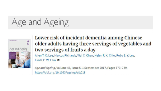 Diet Affects Dementia