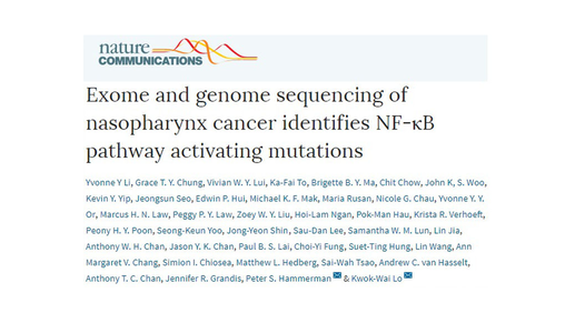 Exome and Genome Analysis of Nasopharyngeal Carcinoma