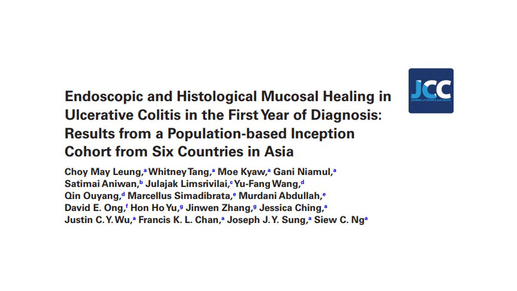 First multicentre population-based study in Asia on Mucosal Healing in Ulcerative Colitis