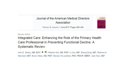 Review Article Published In JAMDA