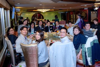 Medical alumni having a sumptuous Chinese dinner