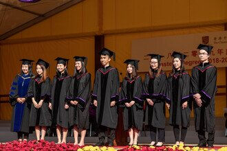 Prof ZUO Zhong and graduates of Master of Clinical Pharmacy