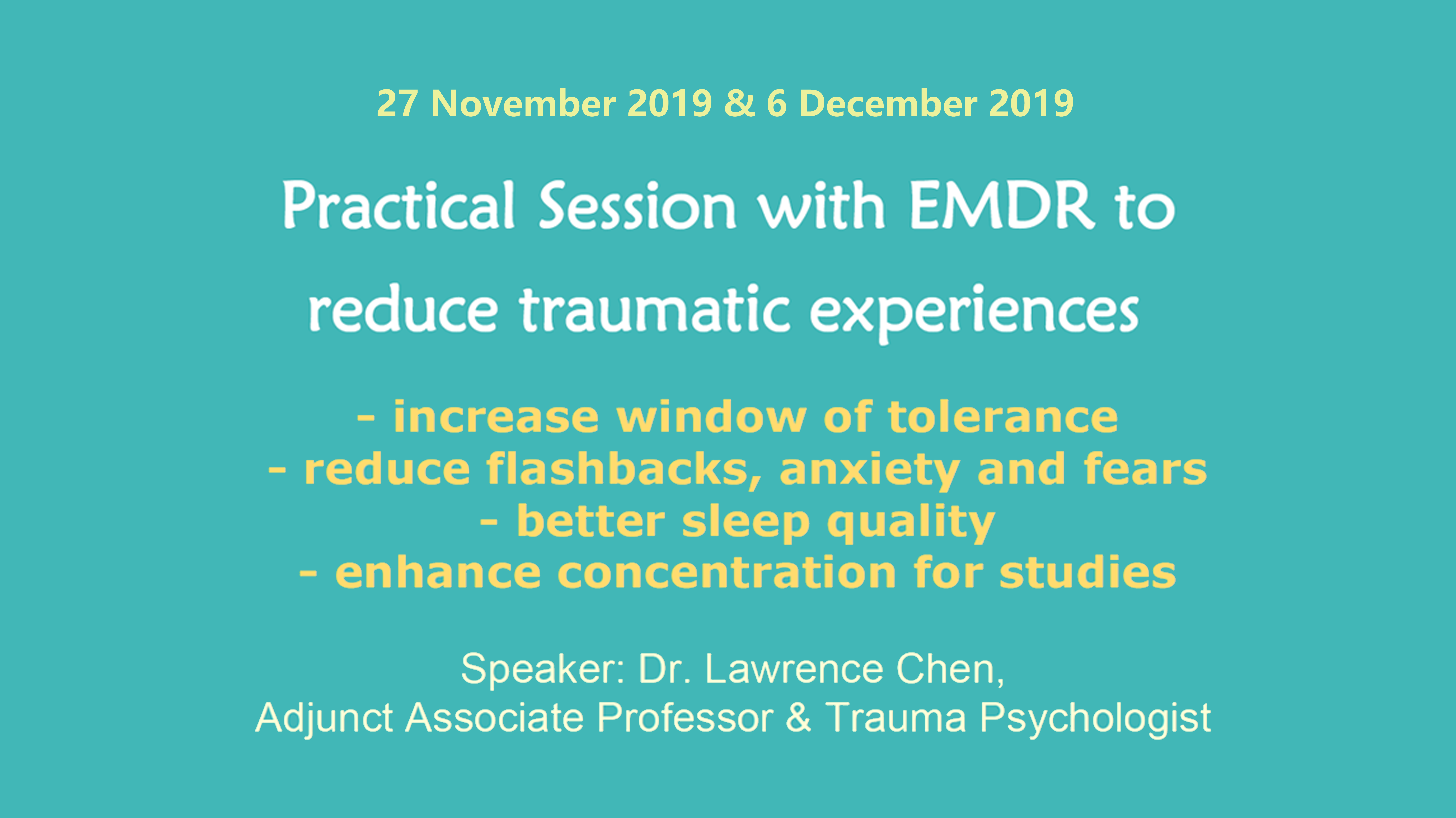 Practical Session with EMDR to reduce traumatic experiences