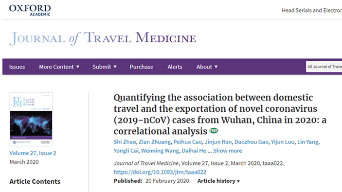 Journal of Travel Medicine