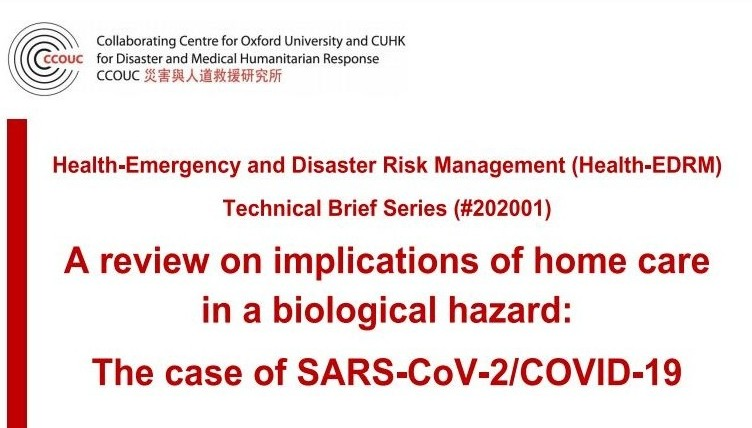 Collaborating Centre for Oxford University and CUHK for Disaster and Medical Humanitarian Response (CCOUC)