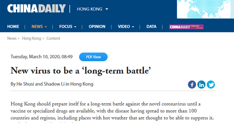 CU Medicine featured in China Daily