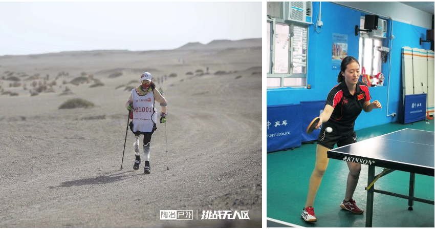 After rehabilitation, patients successfully finished the trip to Gobi Desert.
