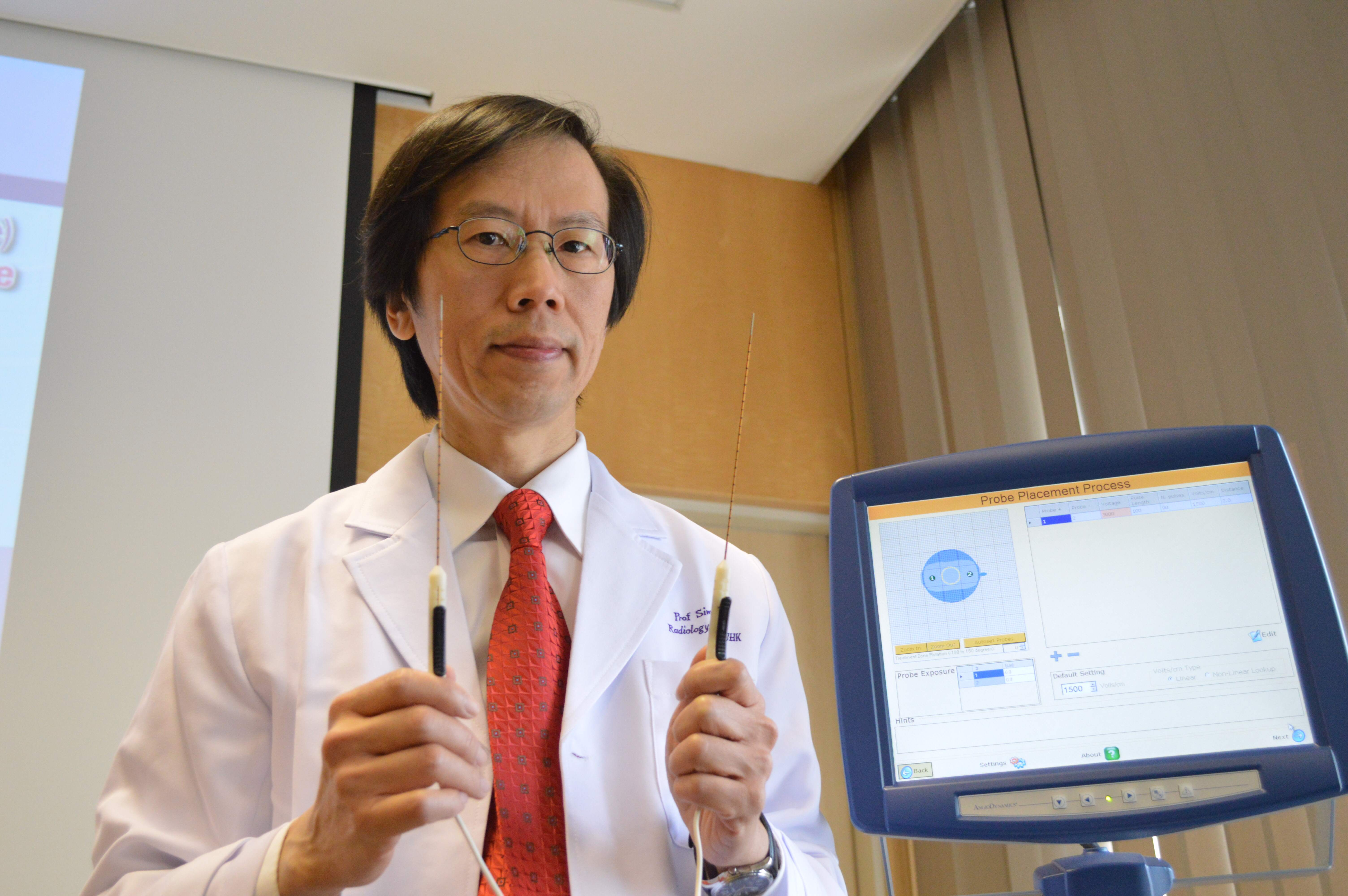 Prof. Simon Yu, Director of Vascular and Interventional Radiology Foundation Clinical Science Center and Professor of Department of Imaging and Interventional Radiology, CUHK successfully conducted the animal study and clinical case of percutaneous Nanoknife.