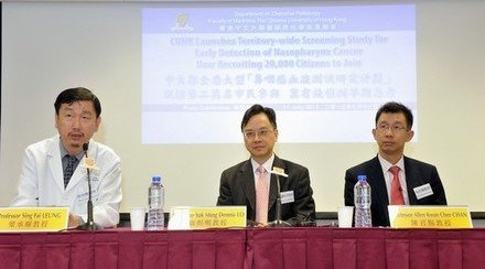 CUHK Launches Territory-wide Screening Study for Early Detection of Nasopharynx Cancer Now Recruiting 20,000 Citizens to Join