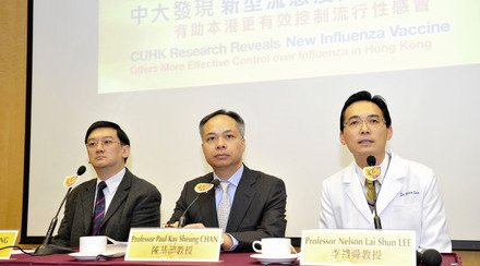 CUHK Research Reveals New Influenza Vaccine Offers More Effective Control over Influenza in Hong Kong