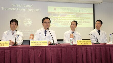 CUHK Urges Widespread Helmet Use and Protective Measures Against Cycling-related Traumatic Brain Injury