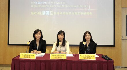 CUHK Study Reveals High Salt Intake Will Lead to High Blood Pressure and Higher Risk of Stroke