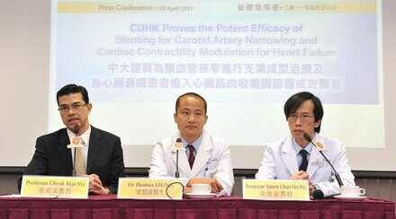 CUHK Proves the Potent Efficacy of Stenting for Carotid Artery Narrowing and Cardiac Contractility Modulation for Heart Failure