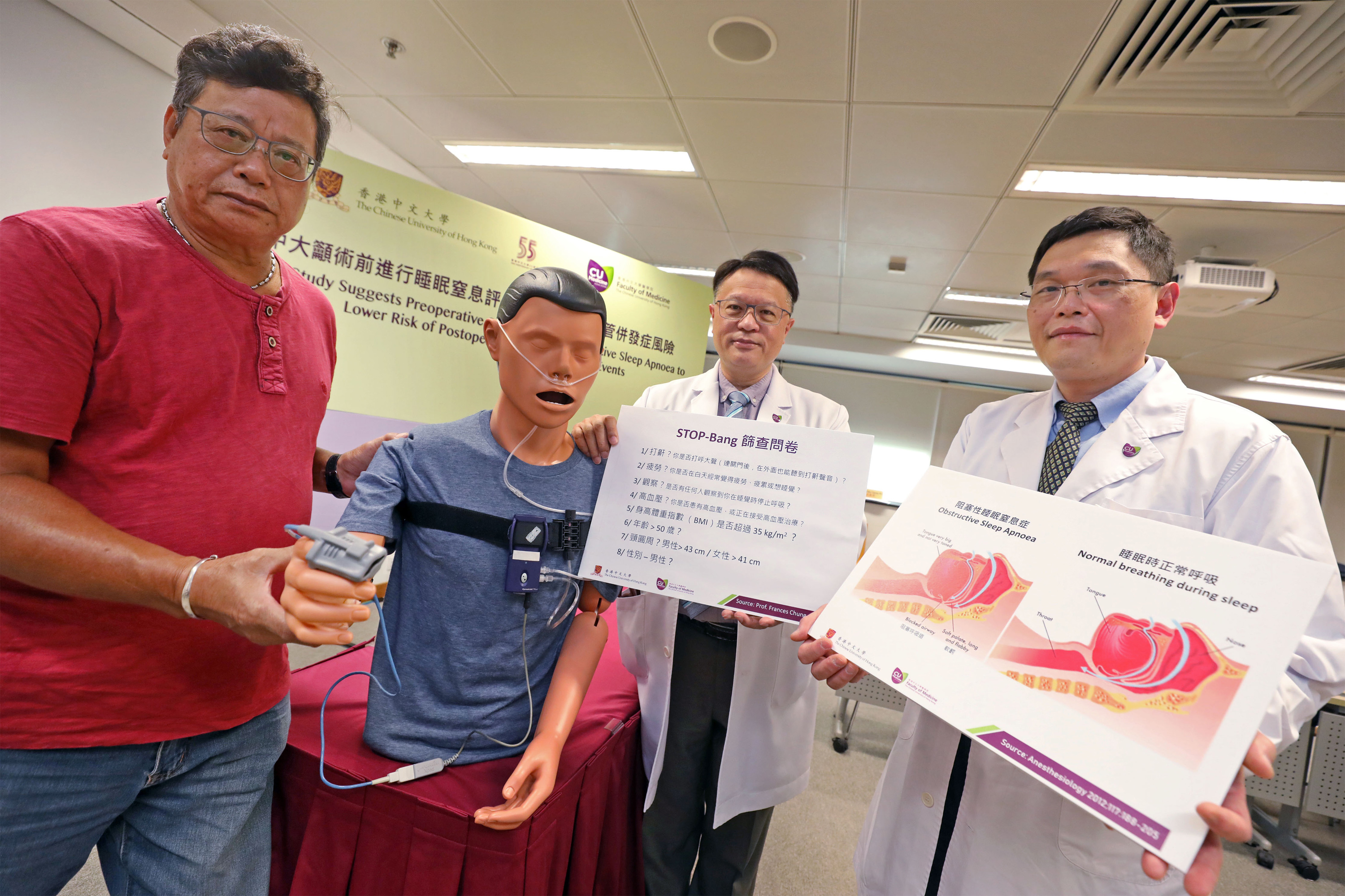 A study conducted by CUHK Faculty of Medicine shows that patients with unrecognised severe OSA have a two-fold increased risk of postoperative cardiovascular complications compared to those without the disorder. Researchers suggest preoperative OSA screening should be considered in clinical practice to lower the risk of postoperative cardiovascular events.