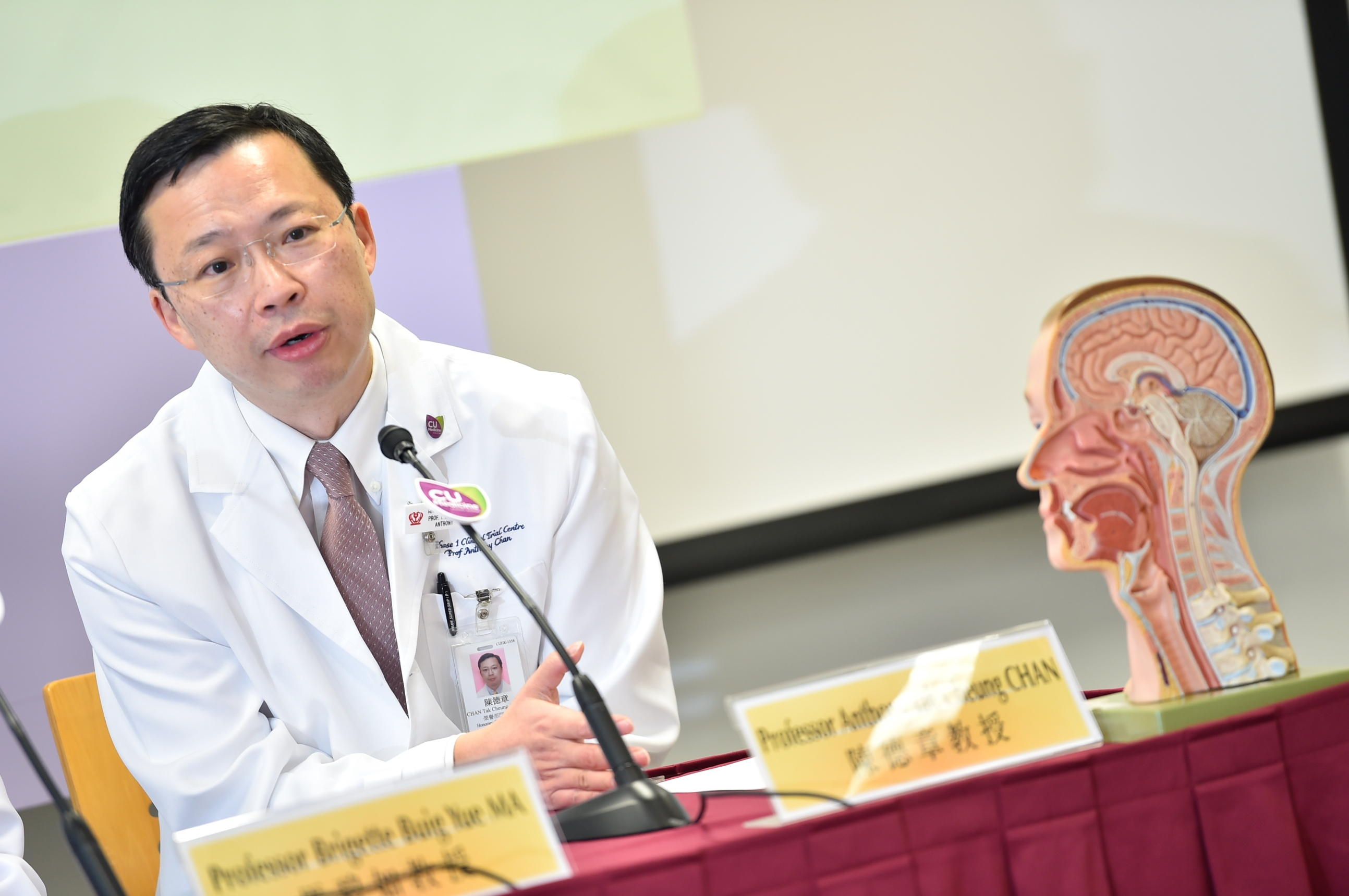 Professor Anthony CHAN says that the CUHK Medicine research team is honoured to lead the international study funded by National Cancer Institute in the United States and work with world-class experts, including those from Mayo Clinic.