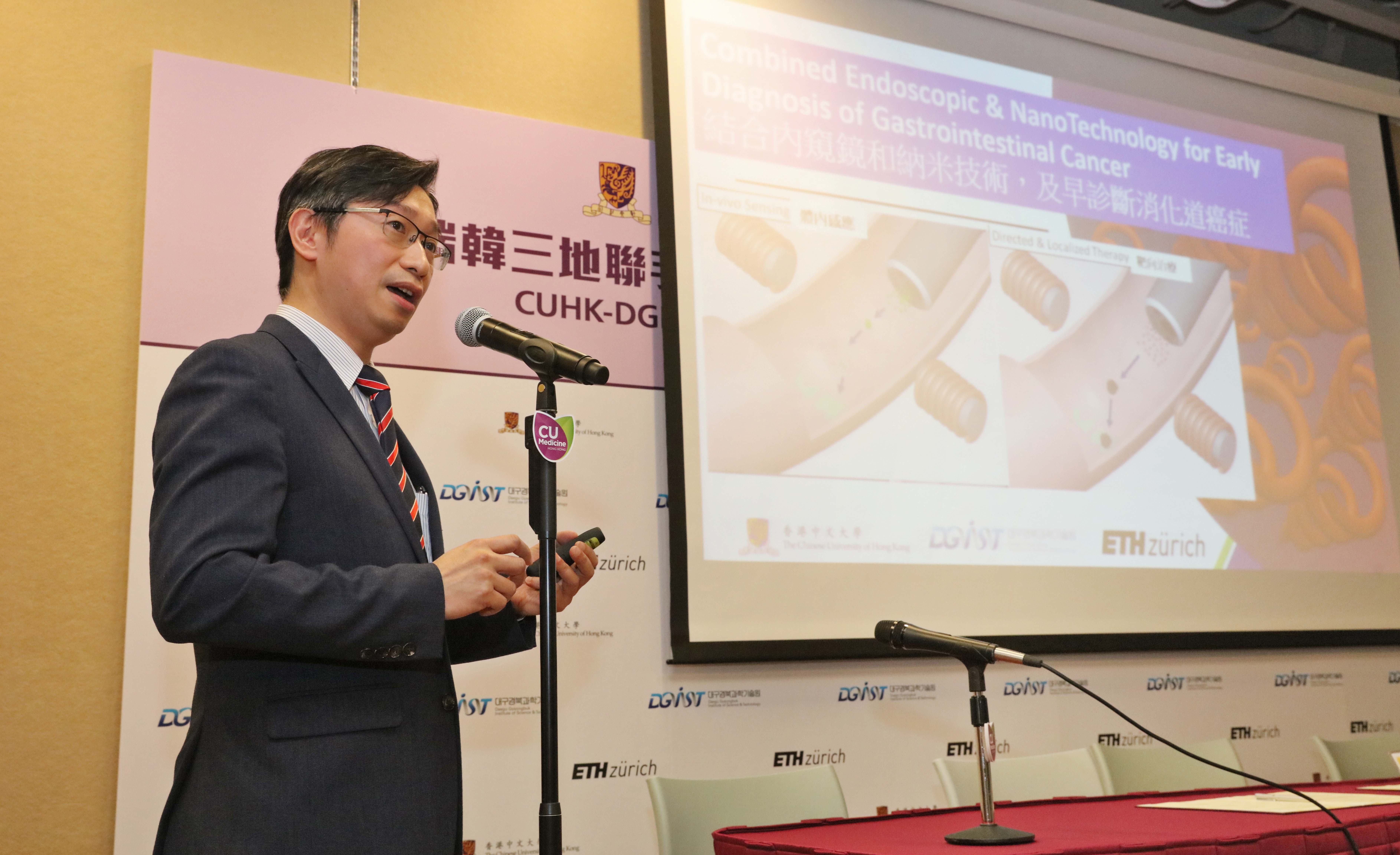 Prof. Philip CHIU says the collaboration targets to transform the research projects into clinical applications in the coming five year time.