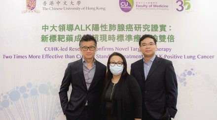 CUHK-led Research Confirms Novel Targeted Therapy Doubles the Effectiveness of Current Standard Treatment for ALK-Positive Lung Cancer