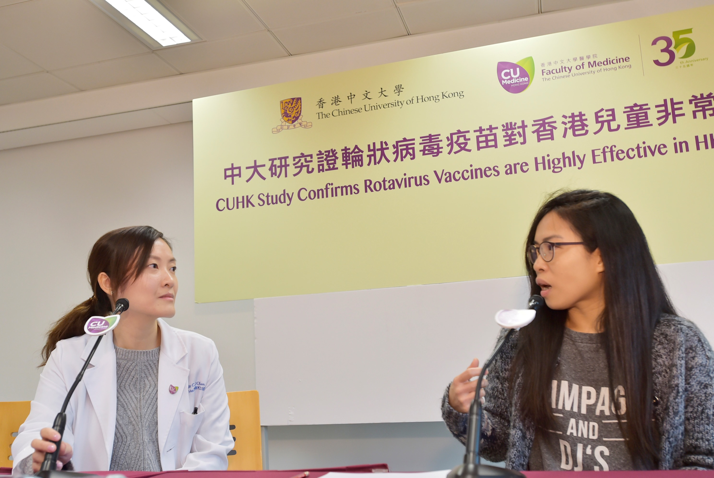 Mrs Ho (right) says her daughter was admitted to hospital for four days because of rotavirus when she was 2.5 years old. She was not aware that vaccination is available in Hong Kong for prevention.