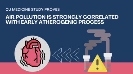 CUHK Study Proves Air Pollution Is Strongly Correlated with Early Atherogenic Process