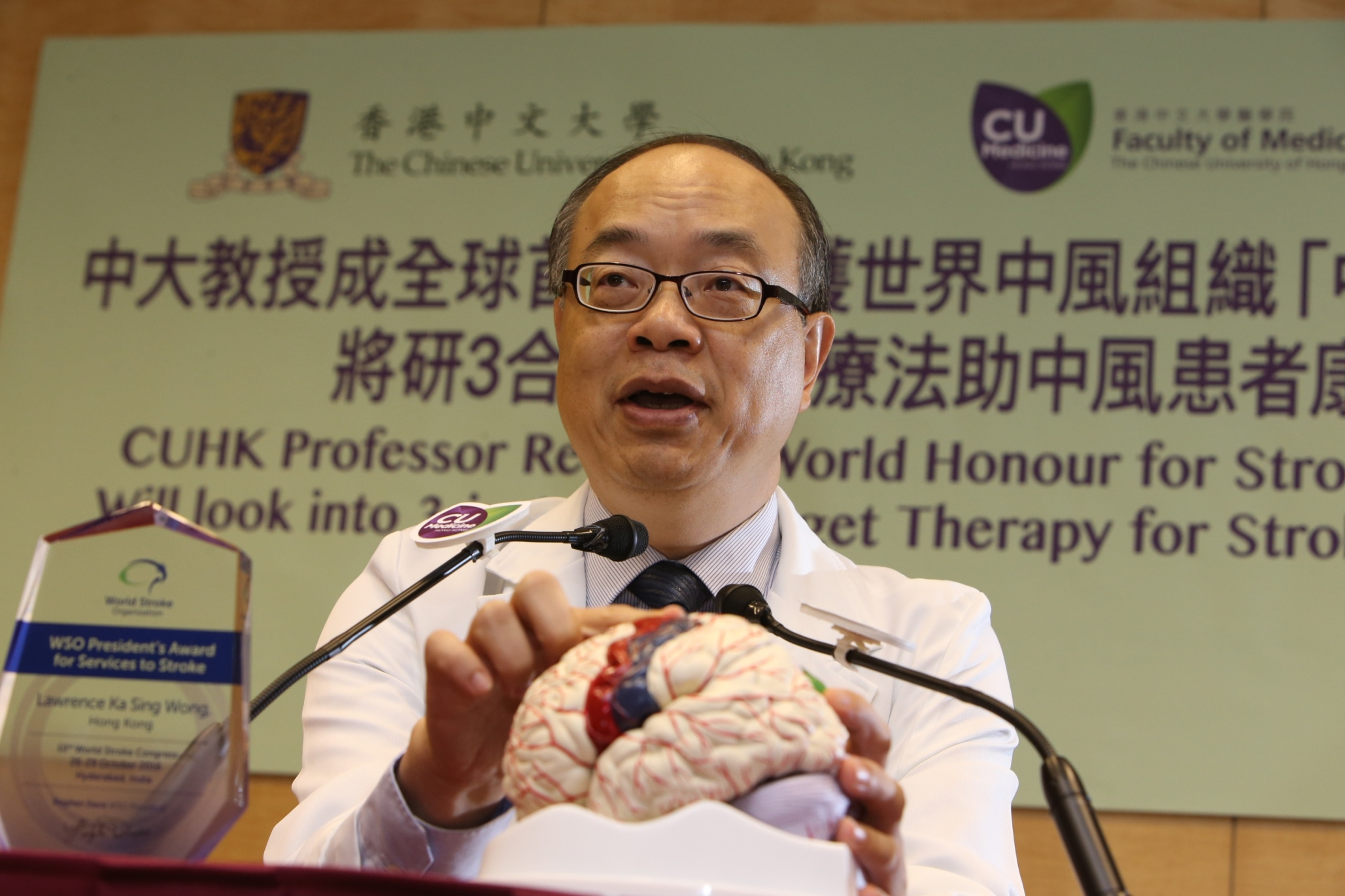 Prof. Lawrence Ka Sing WONG explains 'PMS' can help on the recovery of motor function of the disabled upper limb after stroke by blood flow augmentation to the brain and stimulation of surviving brain cells.