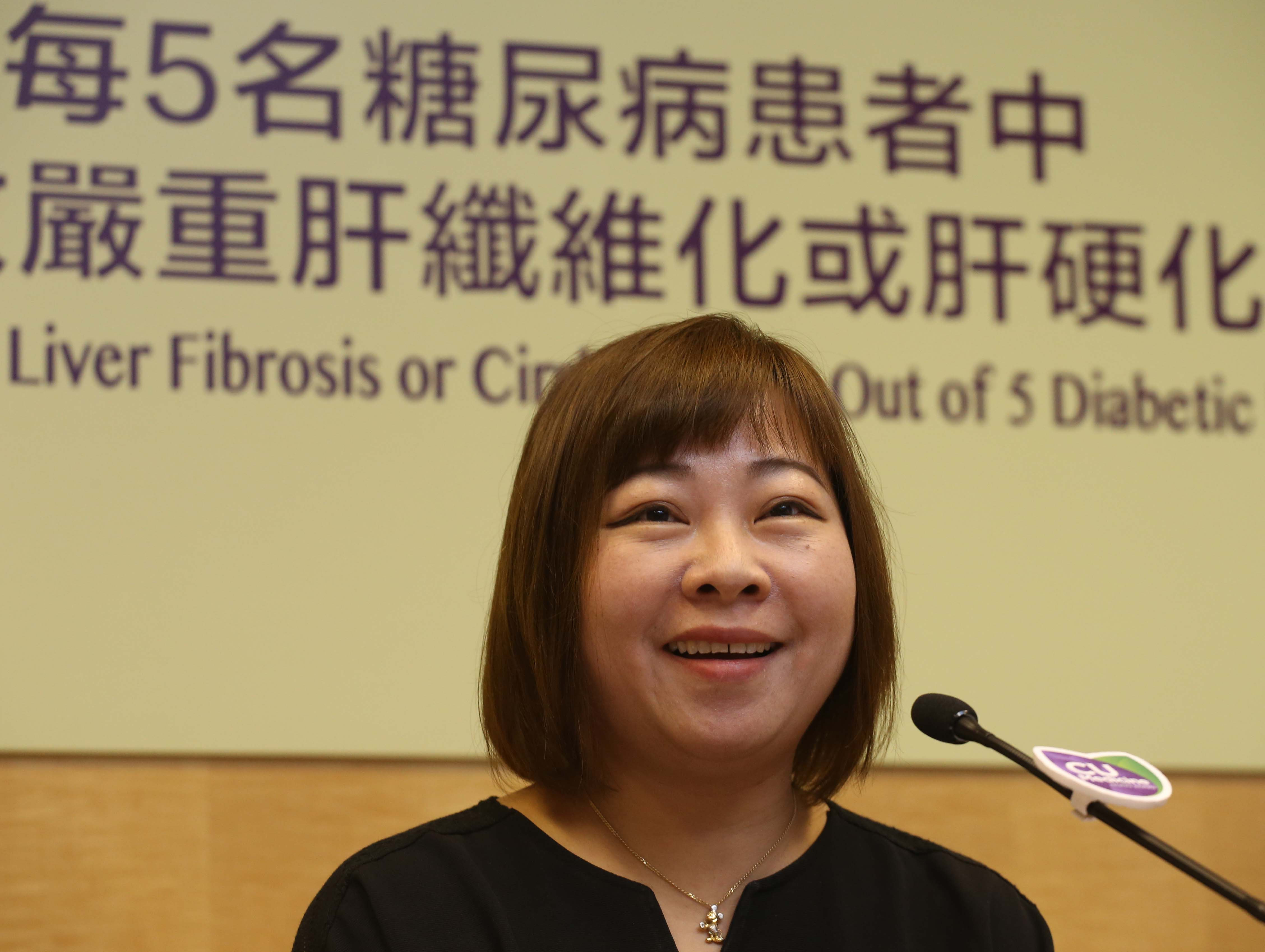 Diabetic patient Ms. Cheng has been monitoring diet and losing weight