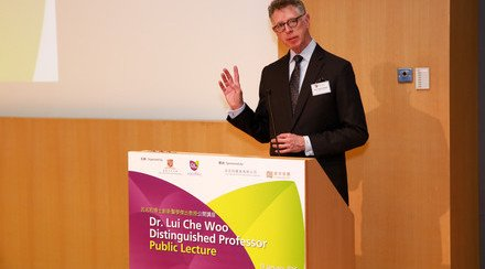 Prof. David Hayes Spoke on Emerging and Future Role for Telemedicine/Mobile Medicine in Dr. Lui Che Woo Distinguished Professor Public Lecture at CUHK