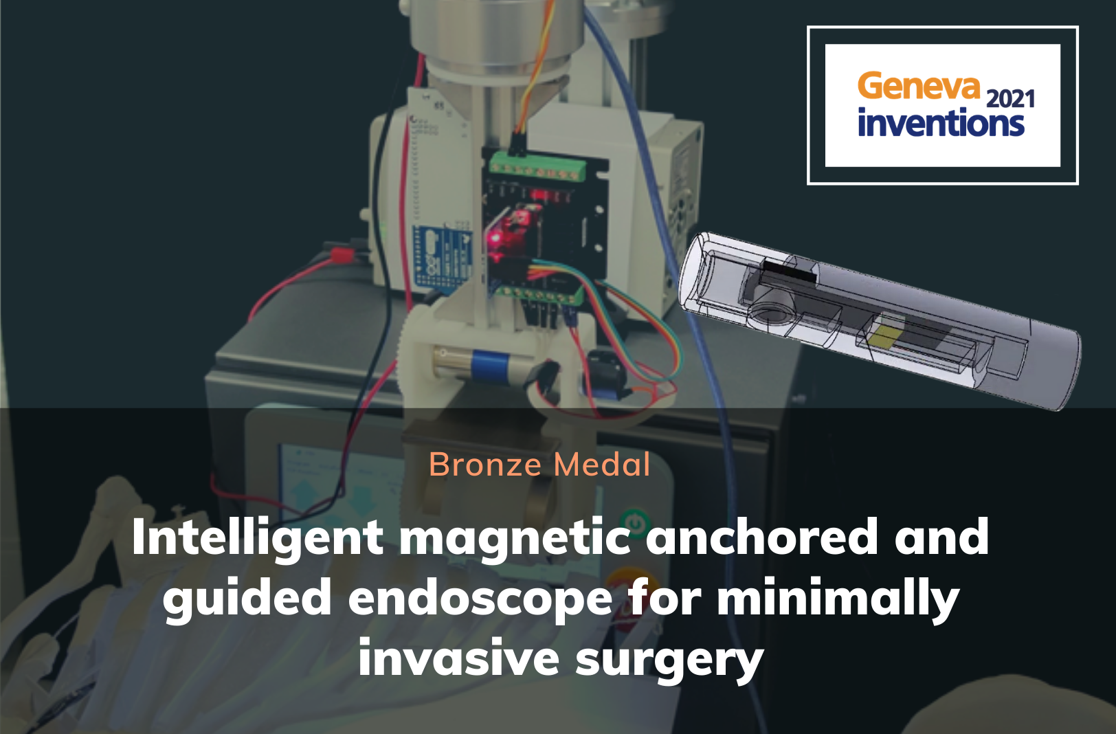 Bronze Medal: Intelligent magnetic anchored and guided endoscope for minimally invasive surgery